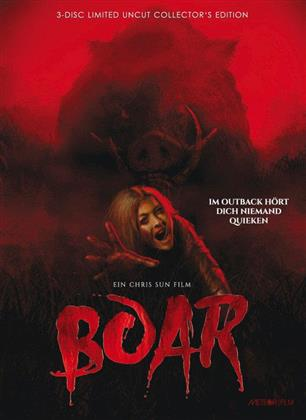 Boar (2017) (Cover B, Collector's Edition, Limited Edition, Mediabook, Uncut, Blu-ray + 2 DVDs)