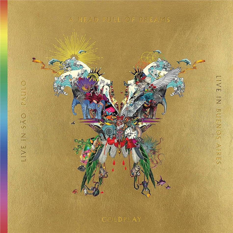 Coldplay - Live In Buenos Aires/Live In Sao Paulo/A Head Full Of Dreams (Film) (Butterfly Package, 3 LP + 2 DVD)