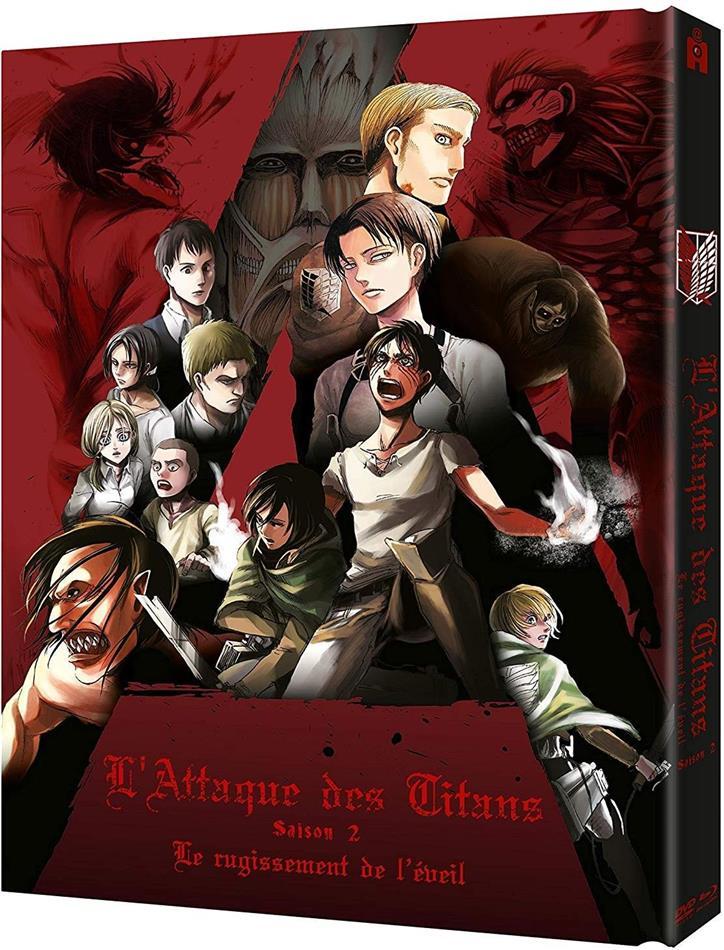 L'Attaque des Titans - Saison 2 - Le rugissement de l'éveil (Collector's Edition, Mediabook, Blu-ray + DVD)