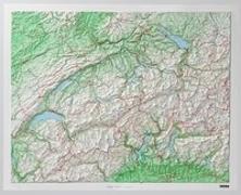 Schweiz Kunststoff-Relief ohne Rahmen