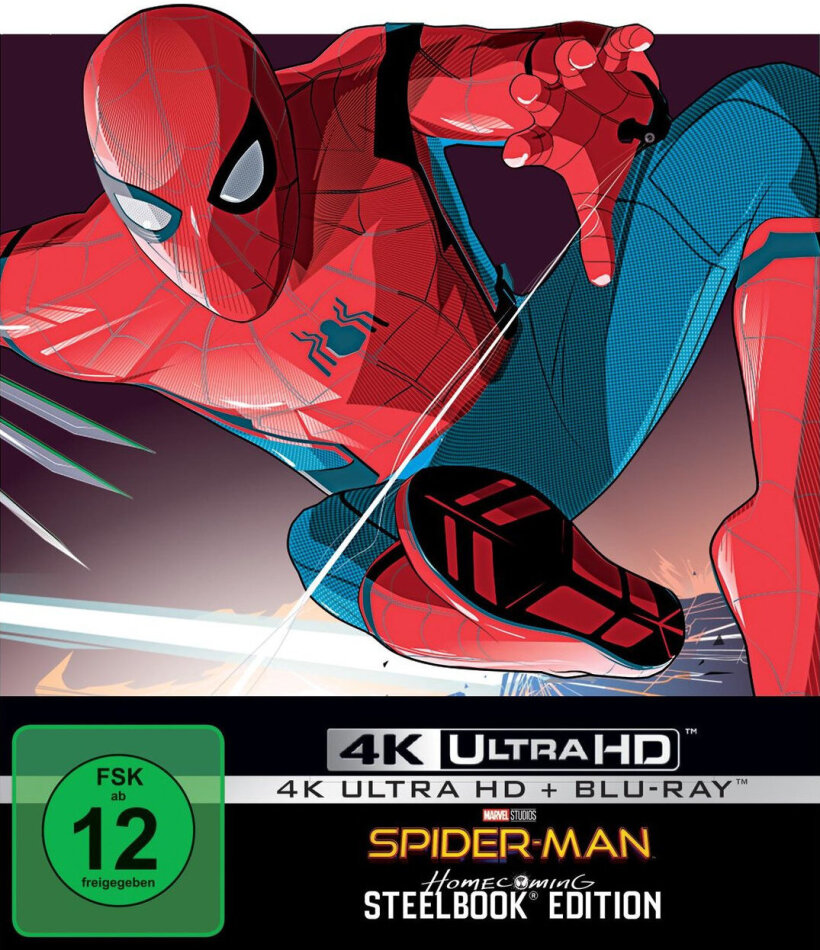 Spider-Man: Homecoming (2017) (Limited Edition, Steelbook, 4K Ultra HD + Blu-ray)