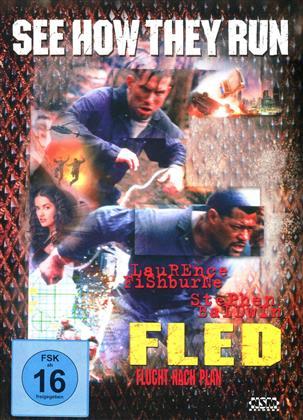 Fled - Flucht nach Plan (1996) (Cover C, Edizione Limitata, Mediabook, Blu-ray + DVD)