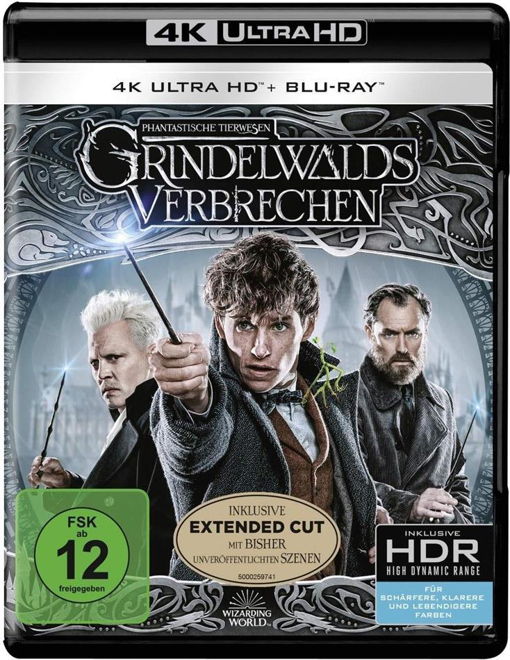 Phantastische Tierwesen 2 - Grindelwalds Verbrechen (2018) (Extended Edition, Kinoversion, 4K Ultra HD + 2 Blu-rays)