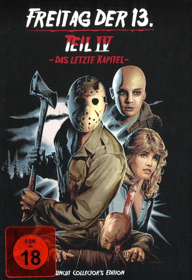 Freitag der 13. - Teil 4 - Das letzte Kapitel (1984) (Cover D, Collector's Edition, Limited Edition, Mediabook, Uncut)