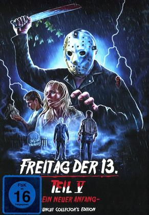 Freitag der 13. - Teil 5 - Ein neuer Anfang (1985) (Cover D, Collector's Edition, Edizione Limitata, Mediabook, Uncut)