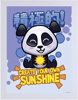 Handa Panda - Create Your Own Sunshine - Wooden Framed Print