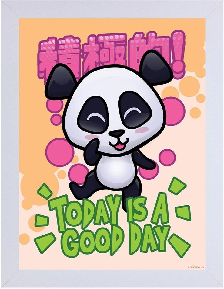 Handa Panda - Today Is A Good Day - Wooden Framed Print
