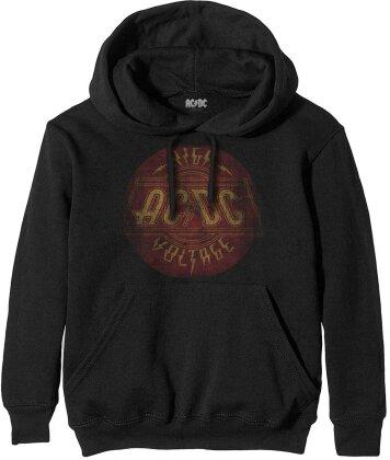 AC/DC Unisex Pullover Hoodie - High Voltage Vintage - Grösse L