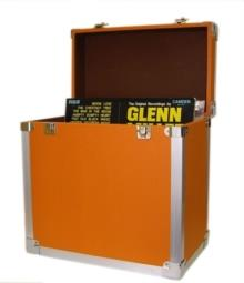 Orange - 50 LP Record Storage Carry Case