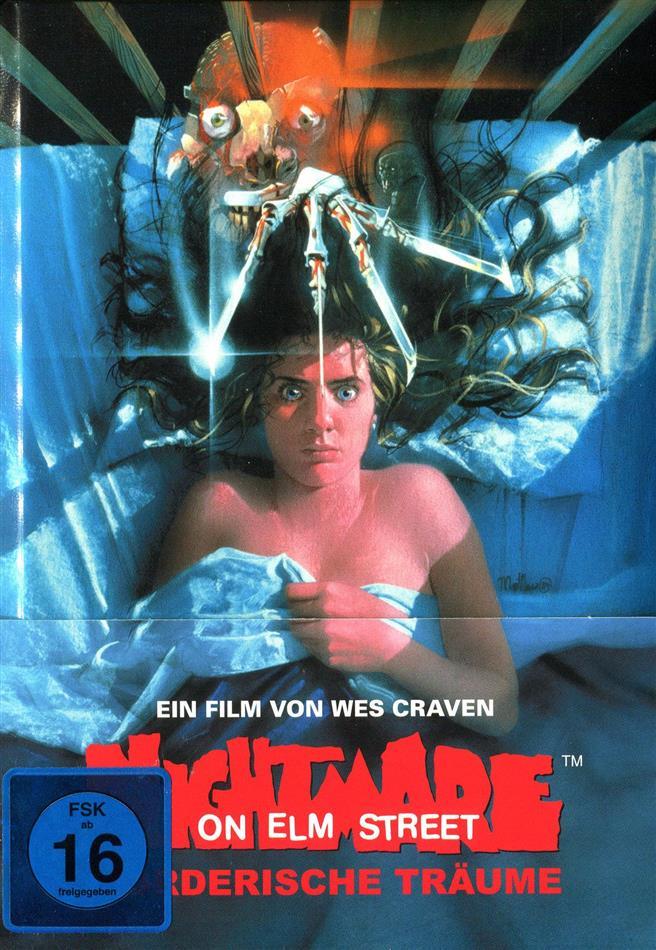 Nightmare on Elm Street - Mörderische Träume (1984) (Wattiert, Edizione Limitata, Mediabook, Blu-ray + DVD)