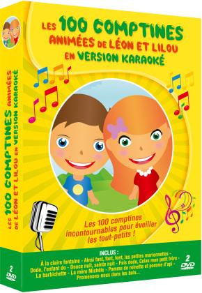 Les 100 comptines animées de Léon et Lilou en version karaoké (2 DVDs)