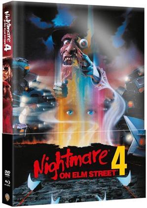 Nightmare on Elm Street 4 (1988) (Wattiert, Limited Edition, Mediabook, Blu-ray + DVD)