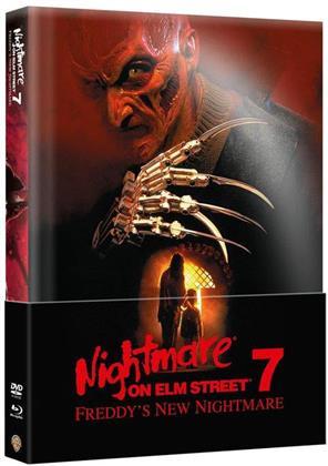 Nightmare on Elm Street 7 - Freddy's New Nightmare (1994) (Wattiert, Edizione Limitata, Mediabook, Blu-ray + DVD)