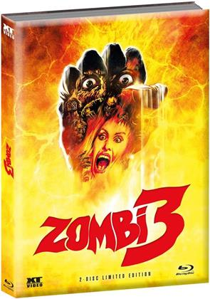 Zombi 3 (1988) (Cover C, Wattiert, Limited Edition, Mediabook, Blu-ray + DVD)