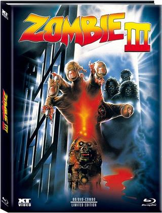 Zombi 3 (1988) (Cover B, Limited Edition, Mediabook, Blu-ray + DVD)