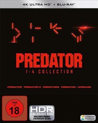 Predator 1-4 (4 4K Ultra HDs + 4 Blu-rays)