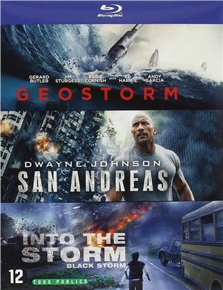 Geostorm / San Andreas / Into the Storm (3 Blu-rays)