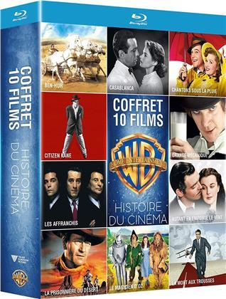 Coffret 10 Films Histoire du Cinéma - Orange mécanique / Les Affranchis / Chantons sous la pluie / La mort aux trousses / Casablanca / Autant en emporte le vent / La prisonnière du désert / Ben-Hur / Citizen Kane / Le magicien d'Oz (10 Blu-rays)