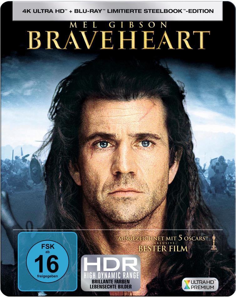 Braveheart (1995) (Limited Edition, Steelbook, 4K Ultra HD + Blu-ray)