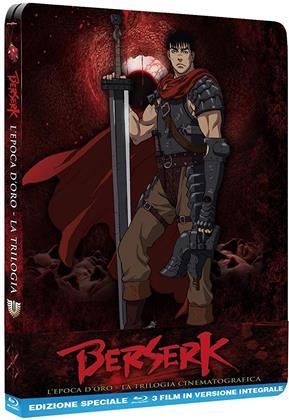 Berserk - L'epoca d'oro - La Trilogia Cinematografica (Steelbook, 3 Blu-ray)