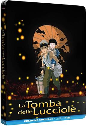 La tomba delle lucciole (1988) (Steelbook, Blu-ray + 2 DVD)