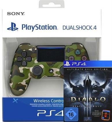 PS4 Controller original Camouflage V2 + Diablo 3 Reaper of Souls