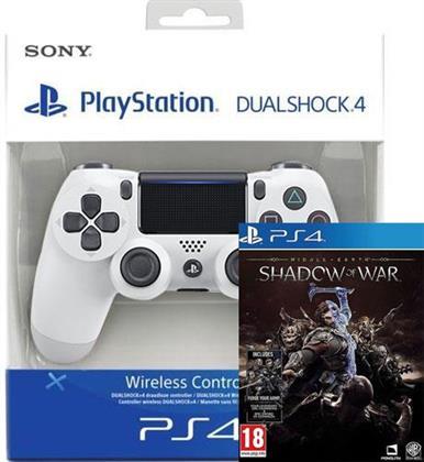 PS4 Controller original glacier white + Mittelerde: Schatten des Krieges