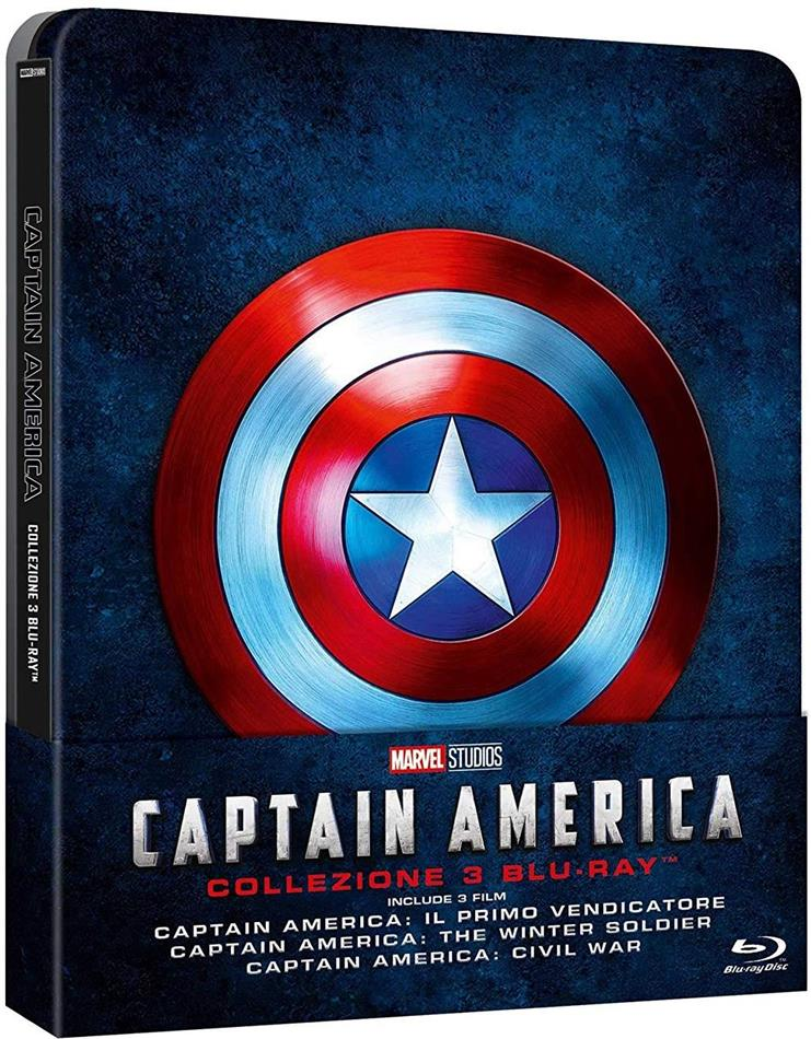 Captain America Collezione (Limited Edition, Neuauflage, Steelbook, 3 Blu-rays)