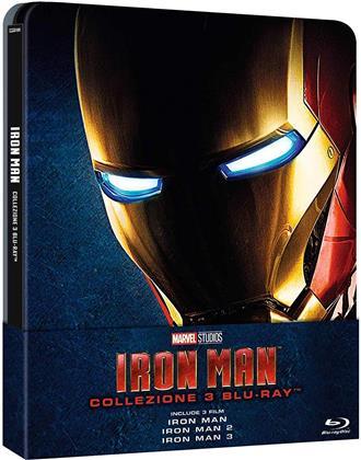 Iron Man Trilogia (Limited Edition, Neuauflage, Steelbook, 3 Blu-rays)