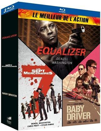 Le Meilleur de l'Action - Equalizer / Les Sept Mercenaires / Baby Driver (3 Blu-ray)