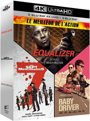 Le Meilleur de l'Action - Equalizer / Les Sept Mercenaires / Baby Driver (3 4K Ultra HDs + 3 Blu-rays)