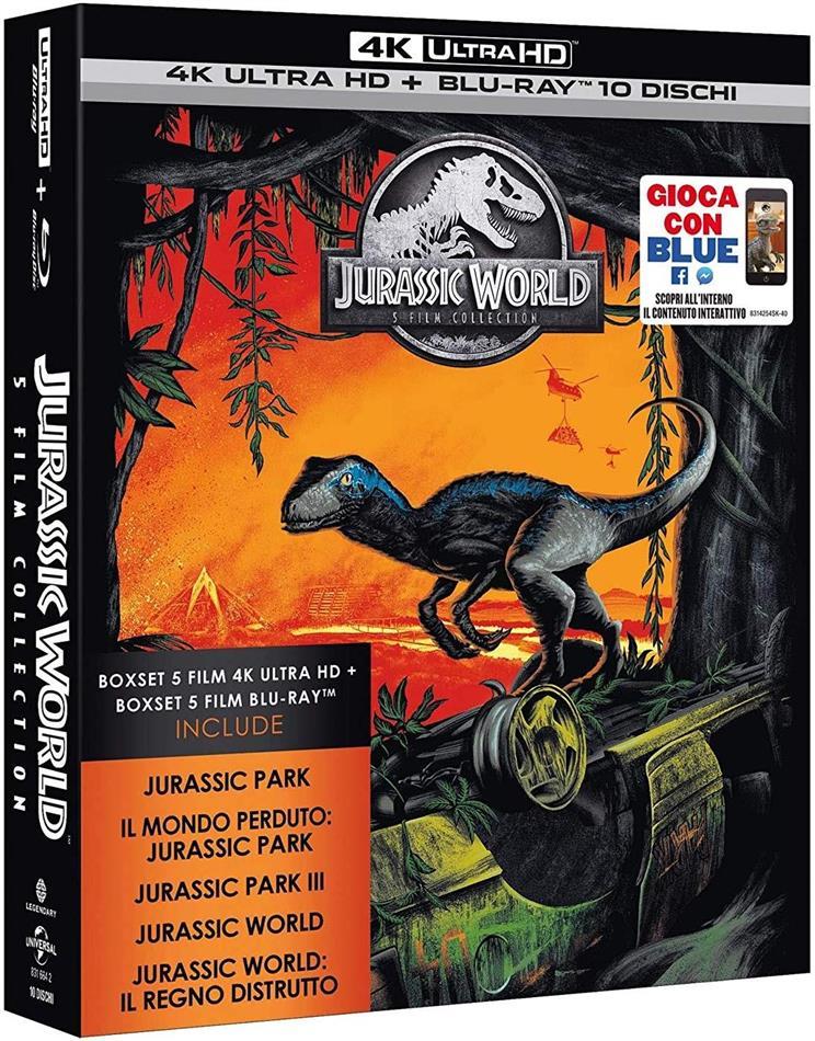 Jurassic World - 5-Movie Collection (5 4K Ultra HDs + 5 Blu-rays)