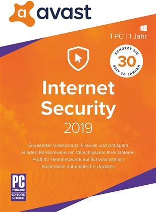 AVAST Internet Security 2019 [1 PC]