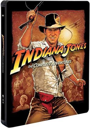 Indiana Jones - The Complete Adventures (Complete Collection, Steelbook, 5 Blu-rays)