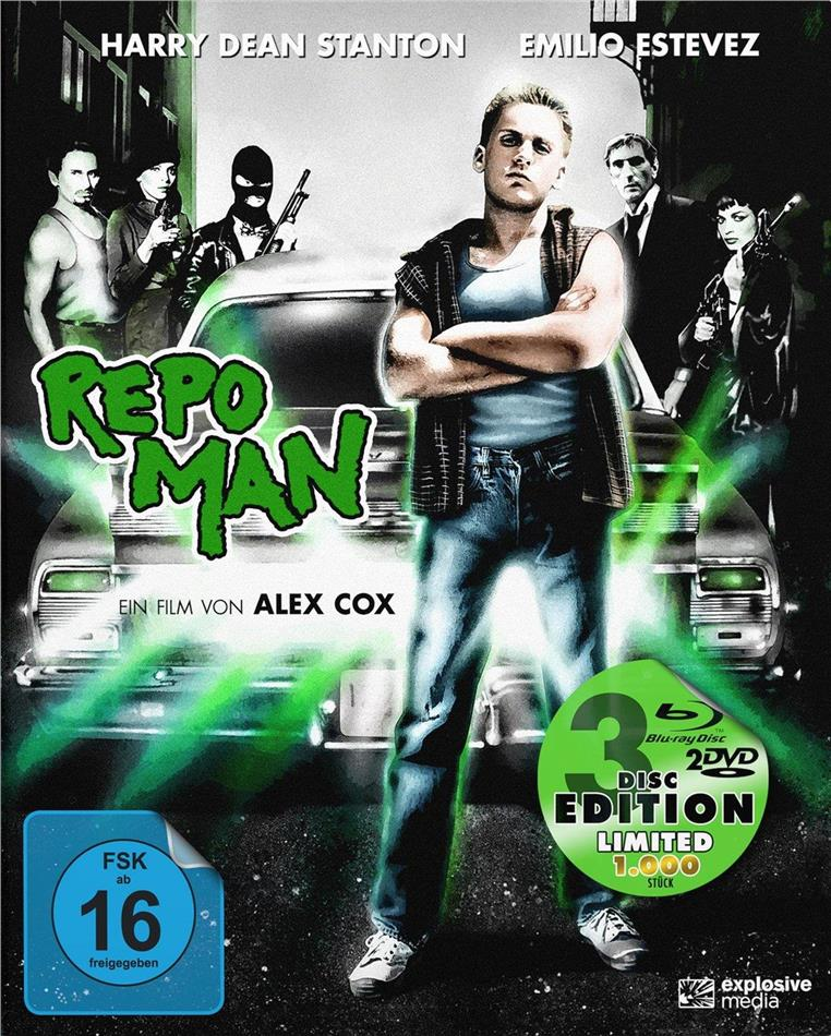 Repo Man (1984) (Limited Edition, Mediabook, Blu-ray + 2 DVDs)
