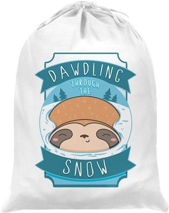 Sleepy Sloth Dawdling Through The Snow - Santa Sack