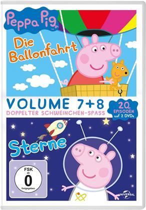 Peppa Pig - Vol. 7+8 - Die Ballonfahrt / Sterne (2 DVDs)