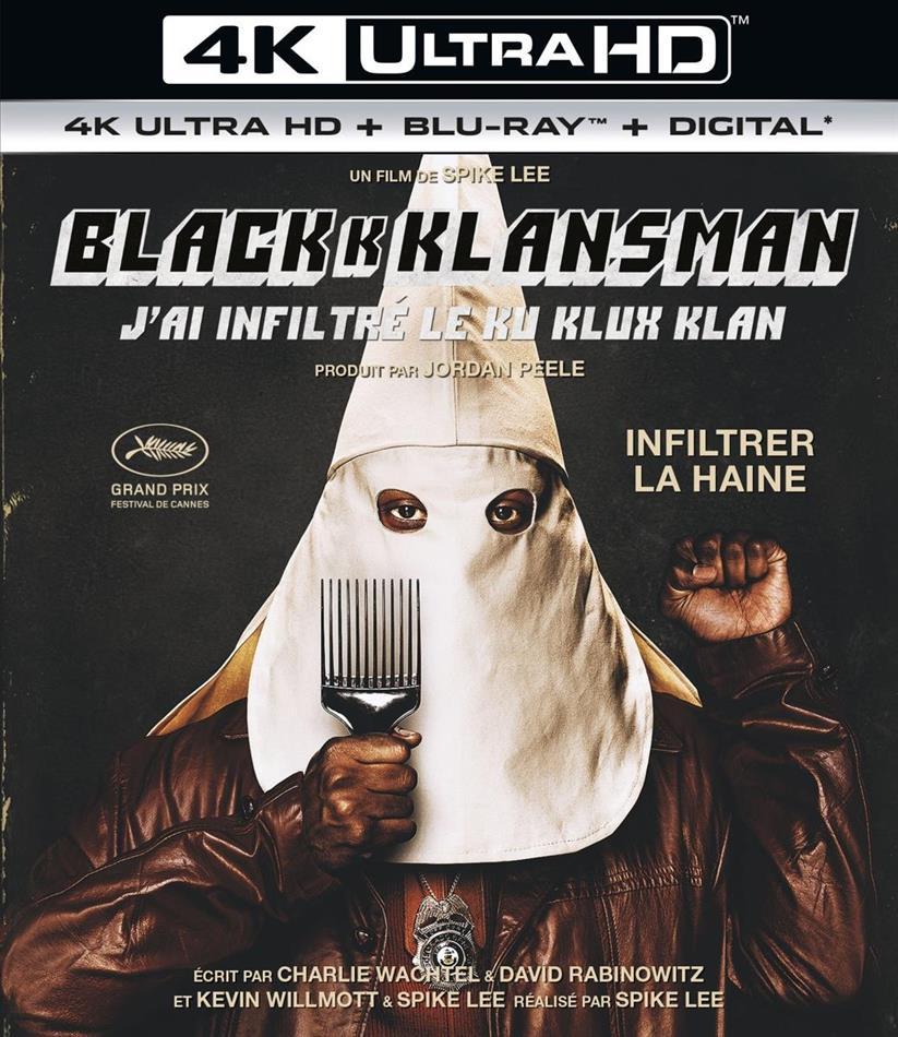 BlacKkKlansman - J'ai infiltré le Ku KLux Klan (2018) (4K Ultra HD + Blu-ray)