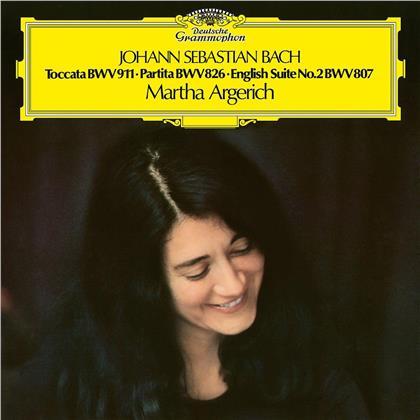 Martha Argerich & Johann Sebastian Bach (1685-1750) - Toccata c-moll / Partita Nr. 2 / Englische Suite (LP)