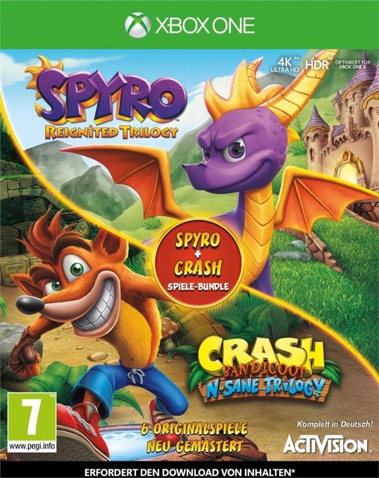 Spyro + Crash Remastered Spiele Bundle
