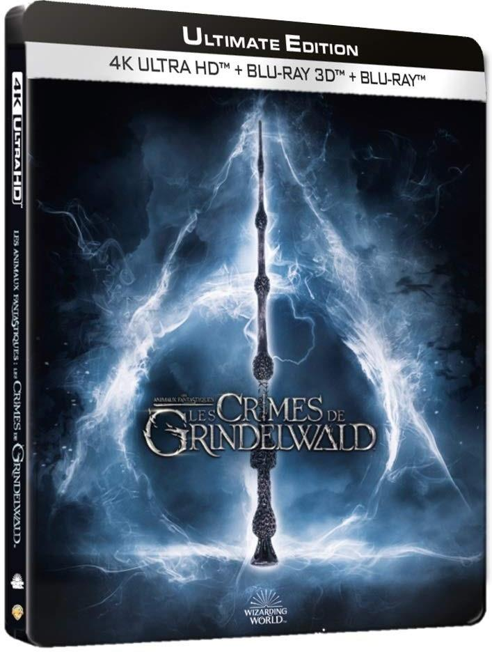 Les animaux fantastiques 2 - Les crimes de Grindelwald (2018) (Versione Cinema, Edizione Limitata, Versione Lunga, Steelbook, 4K Ultra HD + Blu-ray 3D + Blu-ray)