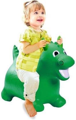 Jamara Hüpftier Drache grün mit Pumpe