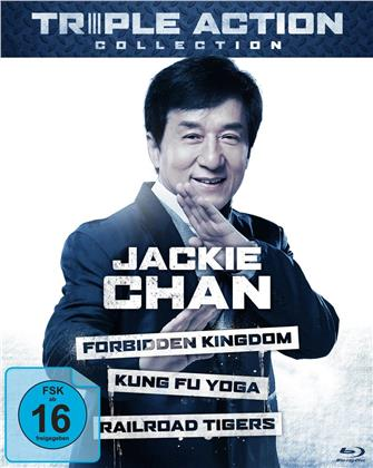 Jackie Chan Triple Action Collection - The Forbidden Kingdom / Kung Fu Yoga / Railroad Tigers (3 Blu-rays)