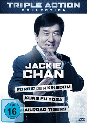 Jackie Chan Triple Action Collection - The Forbidden Kingdom / Kung Fu Yoga / Railroad Tigers (3 DVDs)