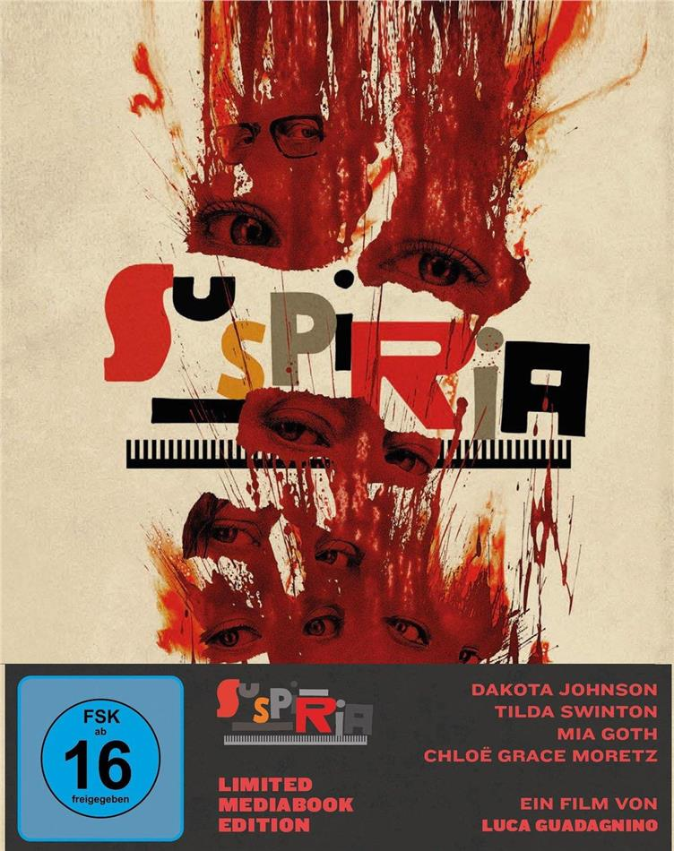 Suspiria (2018) (Cover A, Limited Edition, Mediabook, Blu-ray + 2 DVDs)