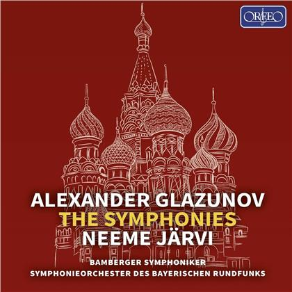 Alexander Glazunov (1865-1936), Neeme Järvi & Bamberger Symphoniker - The Symphonies (5 CDs)