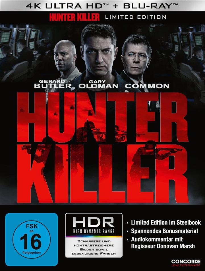 Hunter Killer (2018) (Limited Edition, Steelbook, 4K Ultra HD + Blu-ray)