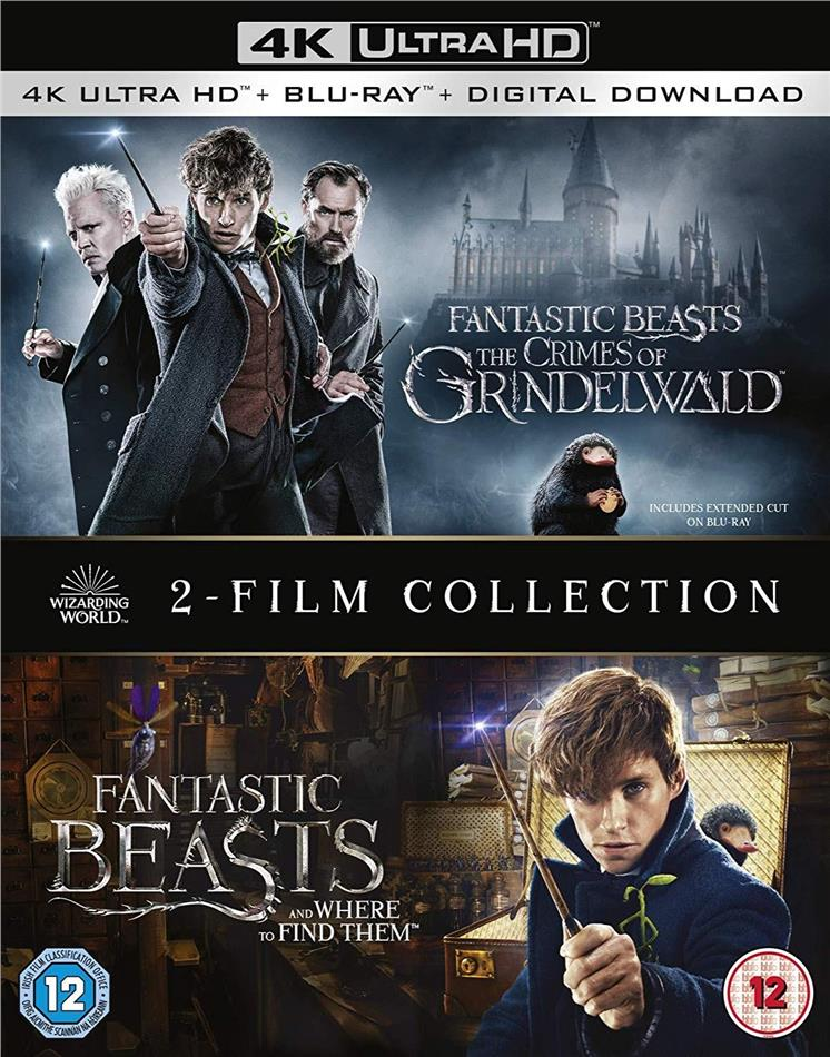 Fantastic Beasts And Where To Find Them The Crimes Of Grindelwald 2 Film Collection 2 4k Ultra Hds 2 Blu Rays Cede Com