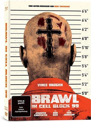 Brawl in Cell Block 99 (2017) (Limited Edition, Mediabook, Uncut, Blu-ray + DVD)