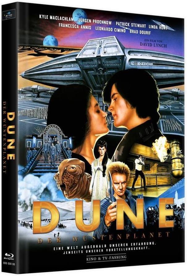 Dune - Der Wüstenplanet (1984) (Cover C, Kinoversion, Limited Edition, Langfassung, Mediabook, 2 Blu-rays)
